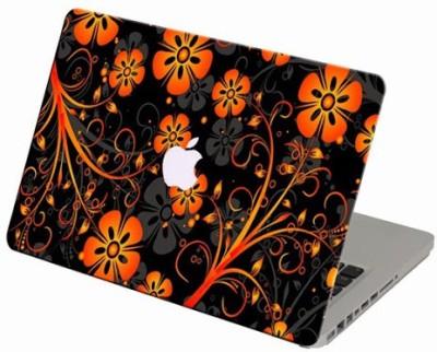 Theskinmantra Orange Tinge Macbook 3m Bubble Free Vinyl Laptop Decal 13.3