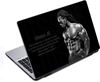 ezyPRNT Ulisses JR Quotation Body Building (14 to 14.9 inch) Vinyl Laptop Decal 14
