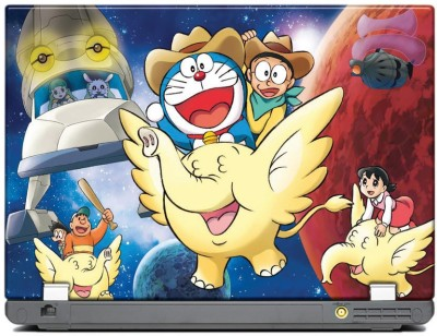 anycreation Doraemon Flying on Elephant VInyl Laptop Decal 15