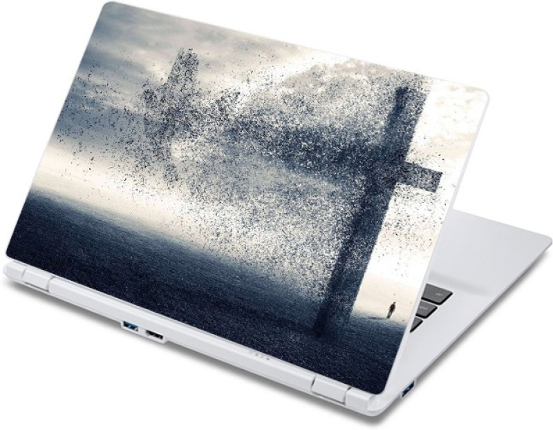 ezyPRNT Dissolving Crucifix (13 to 13.9 inch) Vinyl Laptop Decal 13