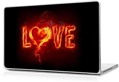 Automers Skin of Love Fire - Reusable High Quality 3M Vinyl Laptop Decal