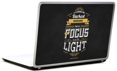 Lab No. 4 Focus To See The Light Aristotle Onassis Vinyl Laptop Decal