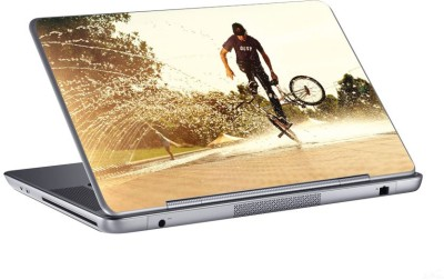 AV Styles stunt with small cycle skin Vinyl Laptop Decal