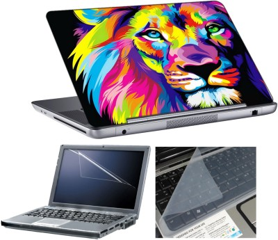 anycreation Lion Color Paint HD Vinyl Laptop Decal 15