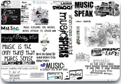 Trendsmate Music Love 3M Vinyl and Lamination Laptop Decal 15.6