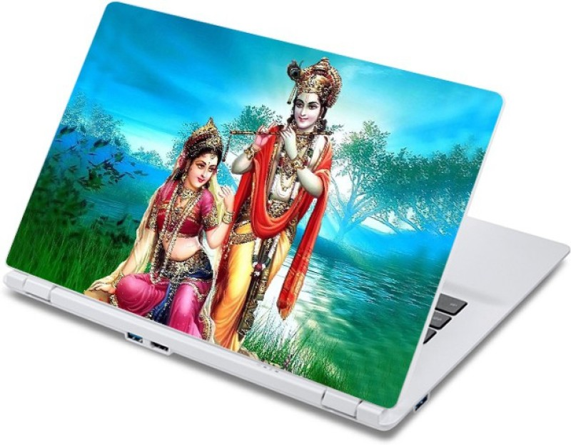 ezyPRNT Radha Krishna Scenary (13 to 13.9 inch) Vinyl Laptop Decal 13