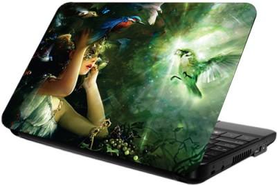 Printland Girl & Parrot Vinyl Laptop Decal