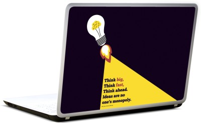 Lab No. 4 Think Big, Think Fast Dhirubhai Ambani Quote Vinyl Laptop Decal 17