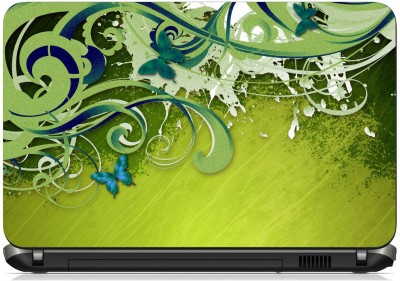 Print Shapes Green Abstract Vinyl Laptop Decal 15.6