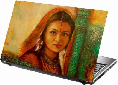 virtual prints a beautiful women digitally printed Laptop Decal 15
