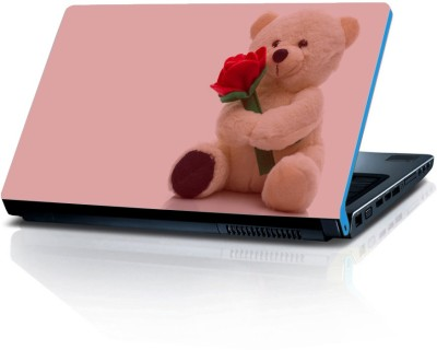 Shopmillions Teddy With Rose Vinyl Laptop Decal 15.6