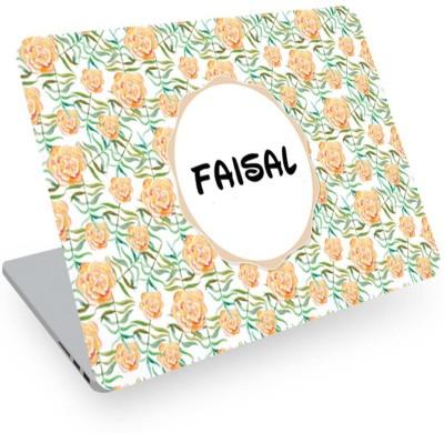 posterchacha Faisal Name Floral Design Laptop Skin Vinyl Laptop Decal 14