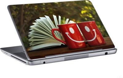 AV Styles smiling cup skin Vinyl Laptop Decal 15.6