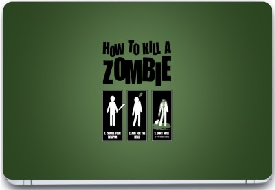 Trendsmate How to kill a zombie 3M Vinyl and Lamination Laptop Decal 15.6