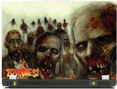 Skinkart Zombie Laptop Skin Type 14 (Screen Size 12.1 inch) Premium quality Imported Vinyl Laptop Decal 12.1