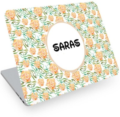 posterchacha Saras Name Floral Design Laptop Skin Vinyl Laptop Decal 14