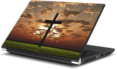 ezyPRNT Crucifix silhuette (15 to 15.6 inch) Vinyl Laptop Decal 15
