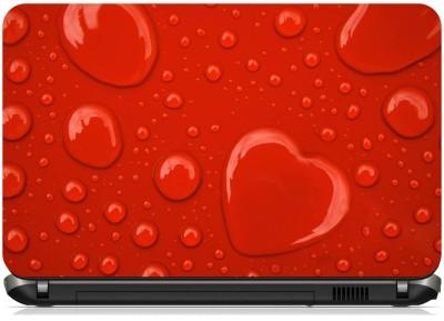 Print Shapes Red Heart Drop Vinyl Laptop Decal 15.6