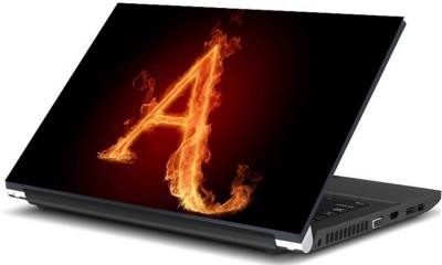 Print Shapes Burning Alphabet A Vinyl Laptop Decal 15.6