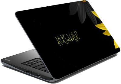 meSleep Black Flowers for Kushal Vinyl Laptop Decal 15.6