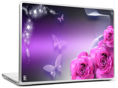 Print Shapes Roses And Butterflies Vinyl Laptop Decal