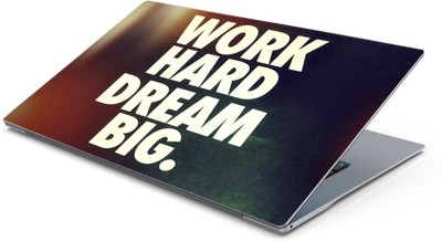 Lovely Collection Work Hard Vinyl Laptop Decal 15.6