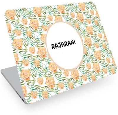 posterchacha Rajarani Name Floral Design Laptop Skin Vinyl Laptop Decal 14