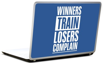 Lab No. 4 Winners Train Losers Complain Motivational Gym Vinyl Laptop Decal 17