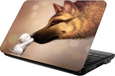 Printland Dog & Bone Vinyl Laptop Decal