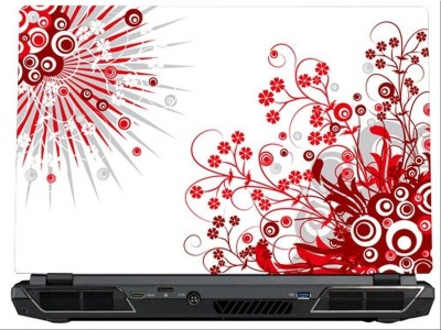 SkinShack Abstract Red Mural Art (14.1 inch) Vinyl Laptop Decal 14.1