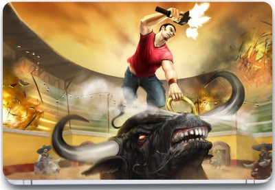 Trendsmate Bull Fighting 3M Vinyl and Lamination Laptop Decal 15.6
