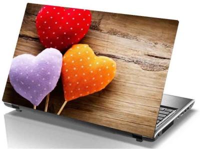 virtual prints heart image digitally printed vinyl Laptop Decal 15