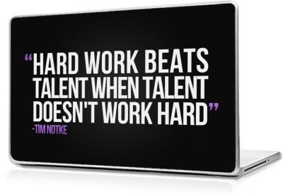 Global Motivational Hard Work Vinyl Laptop Decal 15.6