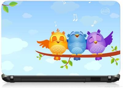 VI COLLECTIONS HAPPY BIRDS PRINTED VINYL Laptop Decal 15.6