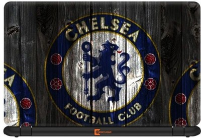 Ownclique Chelsea FC Wooden Pattern Vinyl Laptop Decal