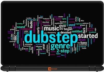 Ownclique Dubstep Typography Vinyl Laptop Decal
