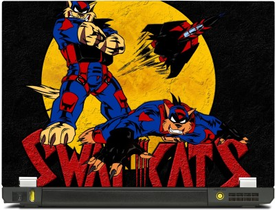 SkinShack New 3D Swat Kats Animated (10.1 inch) Vinyl Laptop Decal 10.1