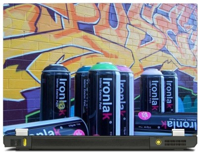 Skinkart Wall Graffiti Laptop Skin Type 6 (Screen Size 15.6 inch) Premium quality Imported Vinyl Laptop Decal 15.6