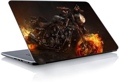 Devendra Graphics Ghost Rider Bike Vinyl Laptop Decal
