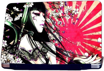 KKC Japanes Lady Art Vinyl Laptop Decal 15.6