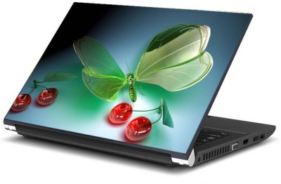 Print Shapes Butterfly with berries Vinyl Laptop Decal 15.6