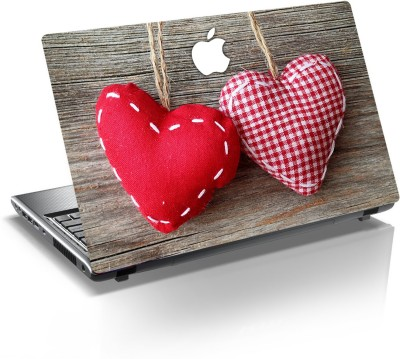 anycreation Two Heart with Apple High Gloss Vinyl Laptop Decal