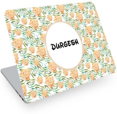 posterchacha Durgesh Name Floral Design Laptop Skin Vinyl Laptop Decal 14