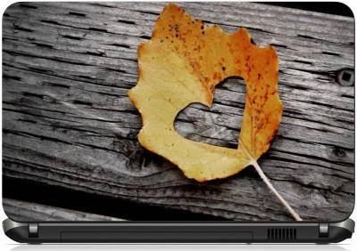 Print Shapes Leaf Heart Vinyl Laptop Decal 15.6