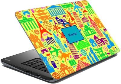 meSleep Abstract Travel - Kartar Vinyl Laptop Decal 15.6