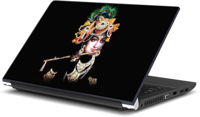 ezyPRNT Krishna Black Photo (15 to 15.6 inch) Vinyl Laptop Decal 15