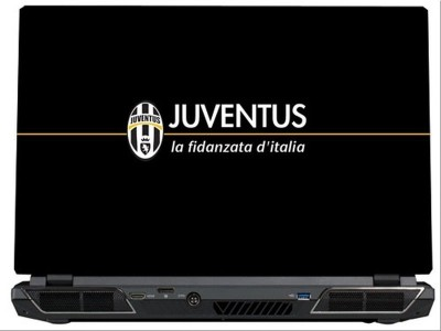 SkinShack Juventus FC Yellow & Black (14.1 inch) Vinyl Laptop Decal 14.1