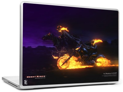 Print Shapes Ghost rider with horse rider Vinyl Laptop Decal 15.6