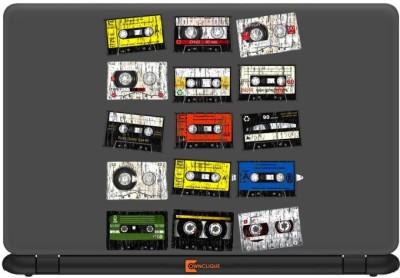Ownclique Retro cassette Pattern Art Vinyl Laptop Decal 14.1