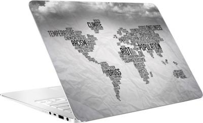 AV Styles World Map In Wordings By Av Styles Vinyl Laptop Decal 15.6